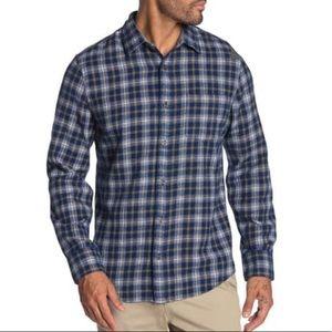 Wallin & Bros Small Navy Isaac Plaid Button Shirt